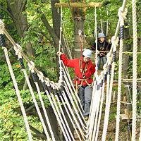 Klettern im Kletterpark