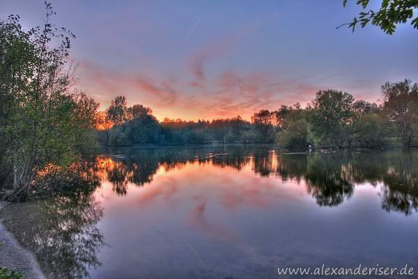 Mönchbruch Sonnenuntergang