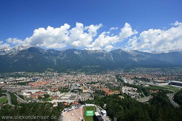Blick auf Innsbruck im Inntal