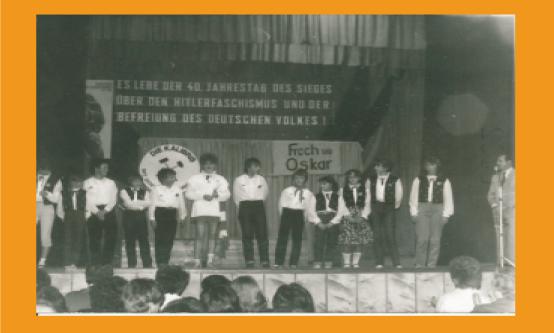 "Premiere ""Frech wie Oskar"" 1985 im Klubhaus Menteroda"