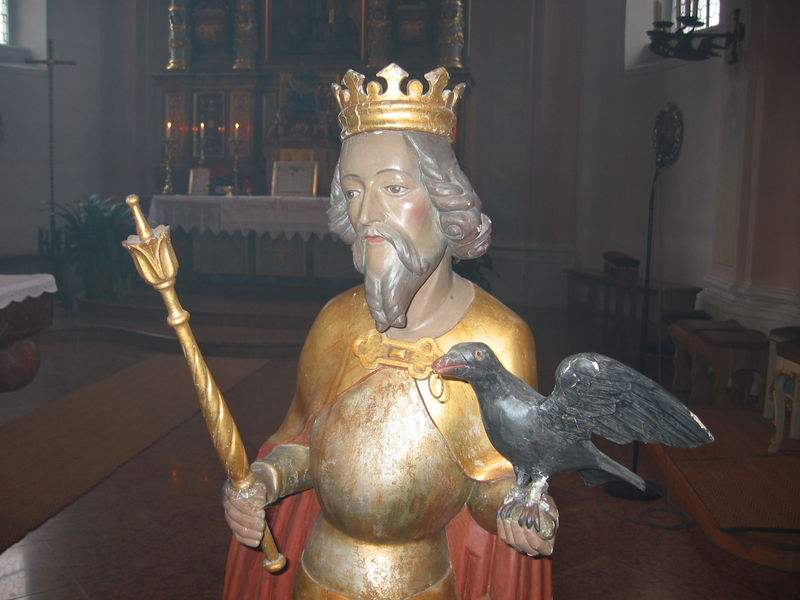 St.Oswald-Statue aus St.Oswald-Riedelhüttee-Bay.Wald