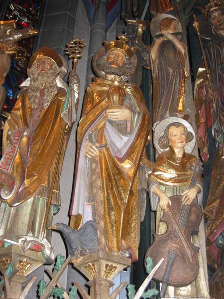 Oswald unter den 14 Nothelfern - Kapelle bei Zeneggen/Schweiz