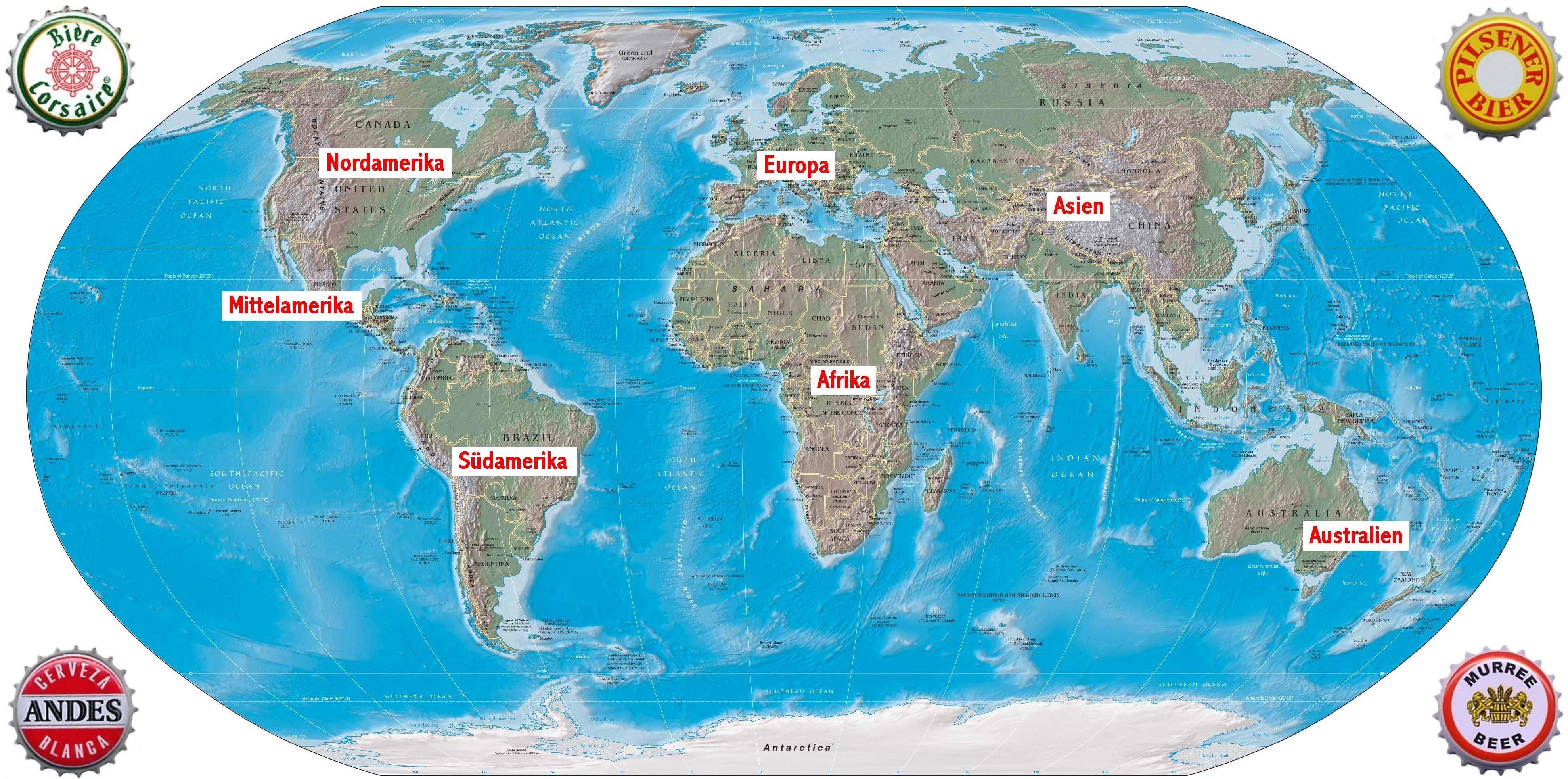 Weltkarte mit beschriftung for Weltkarte mit fotos