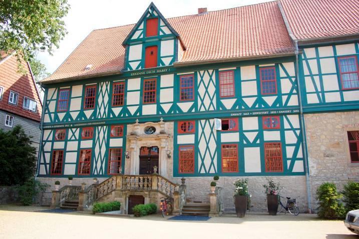 Das Logenhaus der Freimaurer liegt direkt in der malerischen Altstadt von Hildesheim.