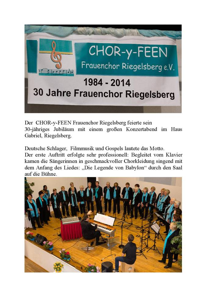 CHOR y FEEN Frauenchor Riegelsberg e V