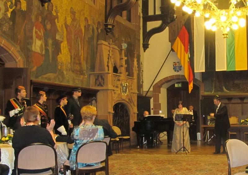 Festkommers TwV Teutonia, Rathausfestsaal Saarbrücken, Juni 2012