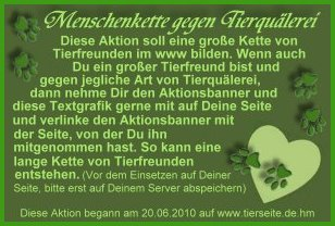 aktion tierfrreunde Text