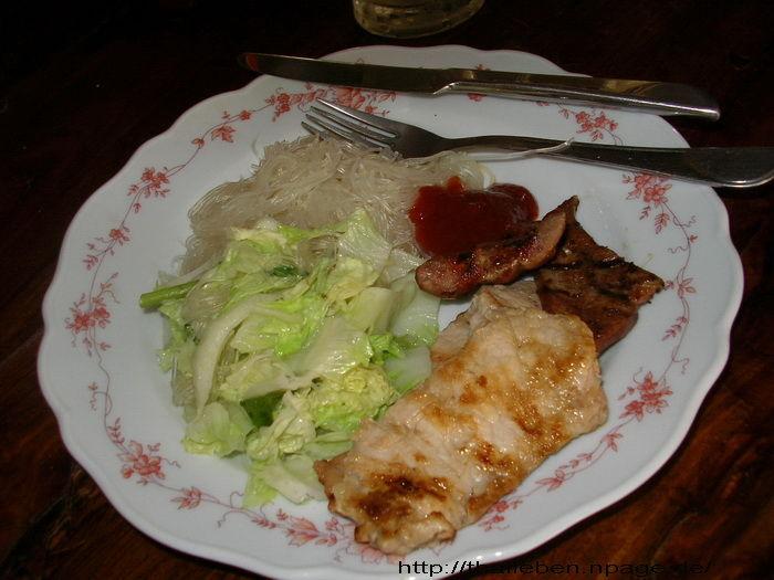 mein essen Glasnudeln und Fleisch