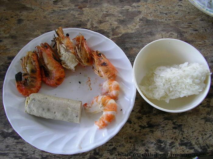 gungs mit Wurst und Reis