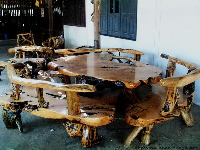 Holzmöbel  Thaileben Leben in Thailand