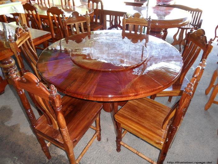 Holziger Drehflächentisch