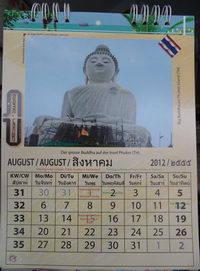Kalenderbild Thailand