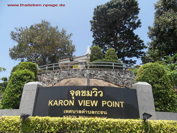 Phuket Karon schild