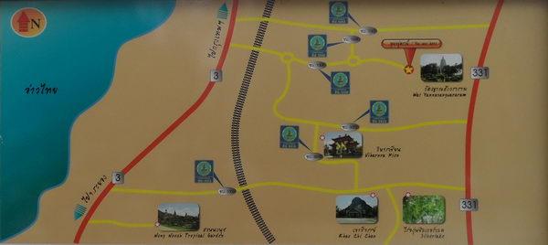 Karte Carved Buddha ausflug