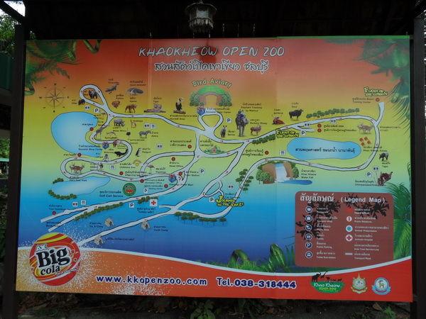 Karte Khao Kheow Open Zoo