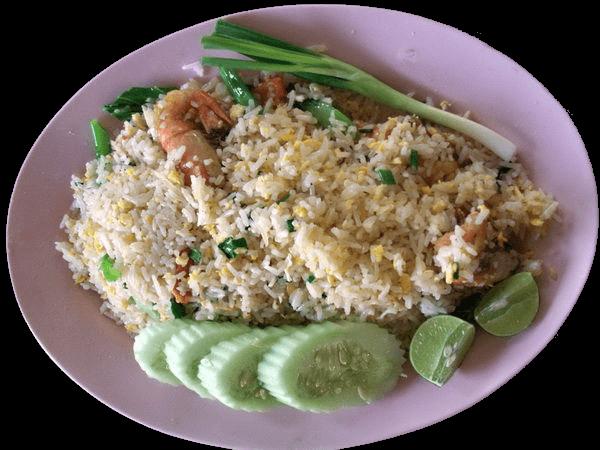 Teller Khau Pat gebratener Reis