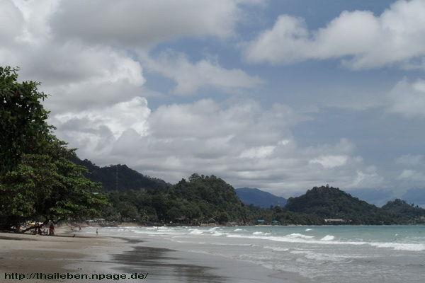 Menschenleere Withe Sand Beach