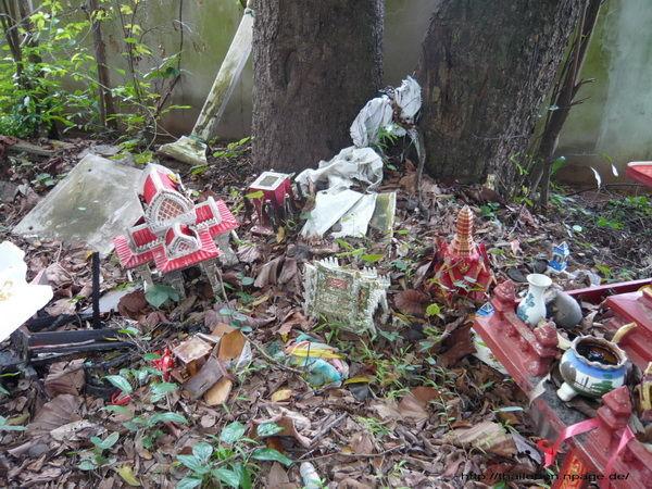 Deponie für Tempelfiguren im Wat