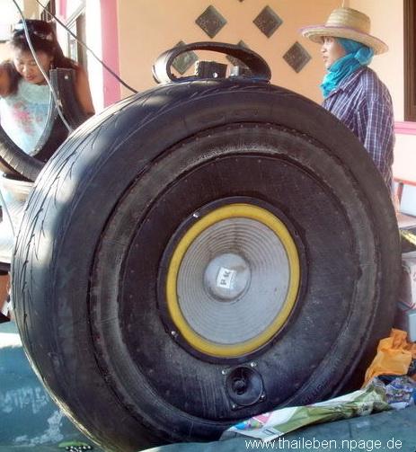 Origineller Reifenlautsprecher