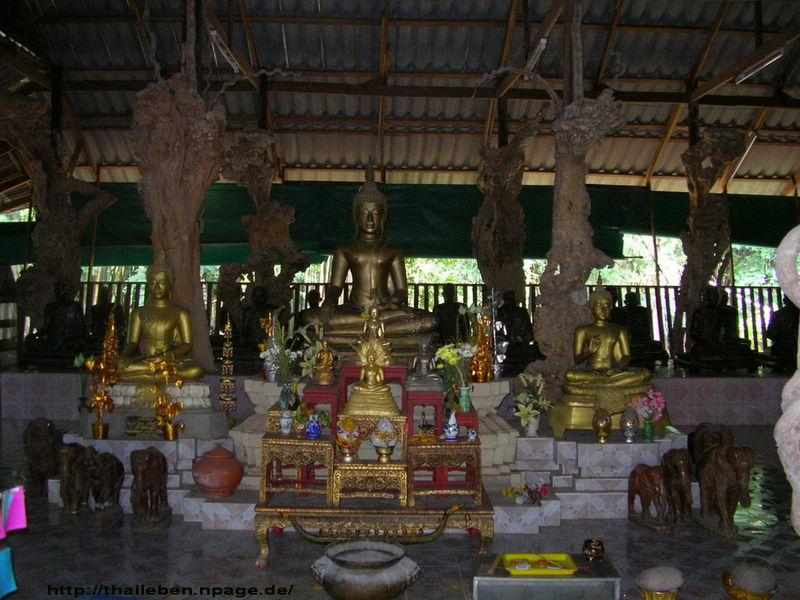 Buddhafiguren aussenbezirk überdacht