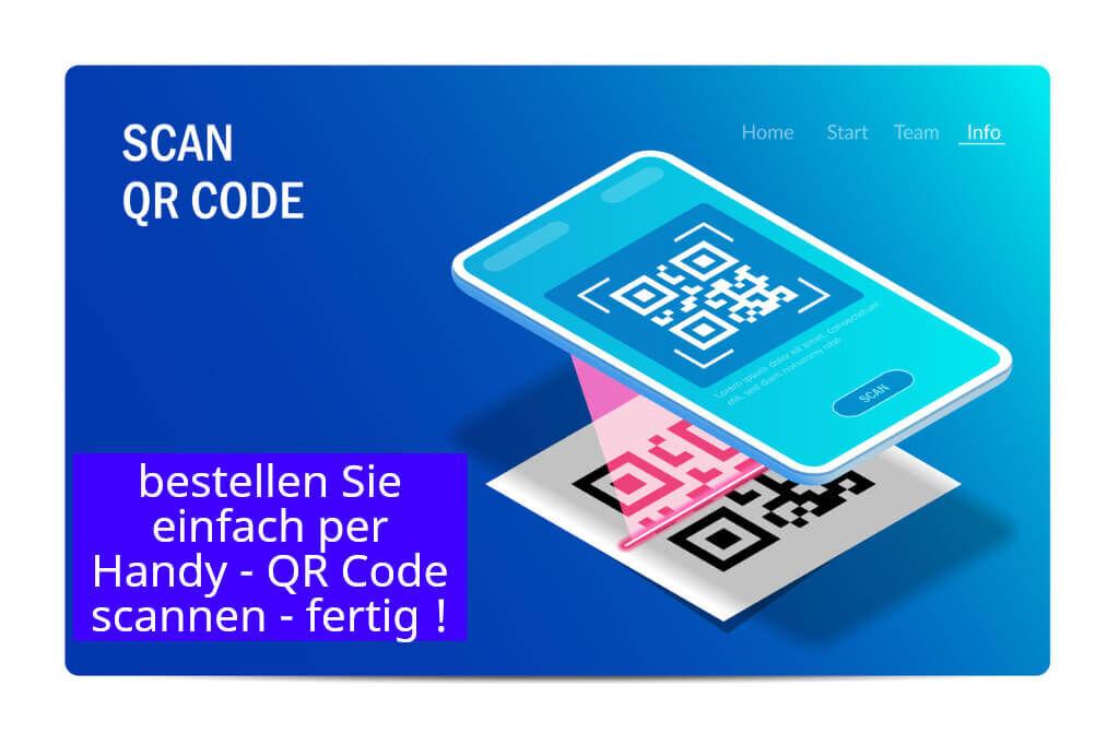 Anleitung wie per QR code bestellen
