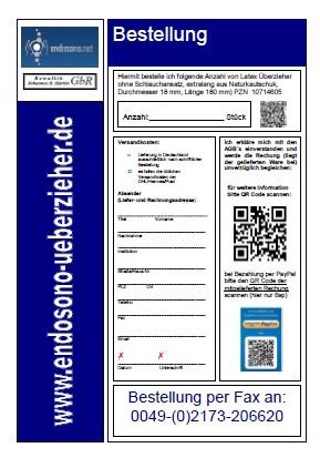 Bestellformular Fax