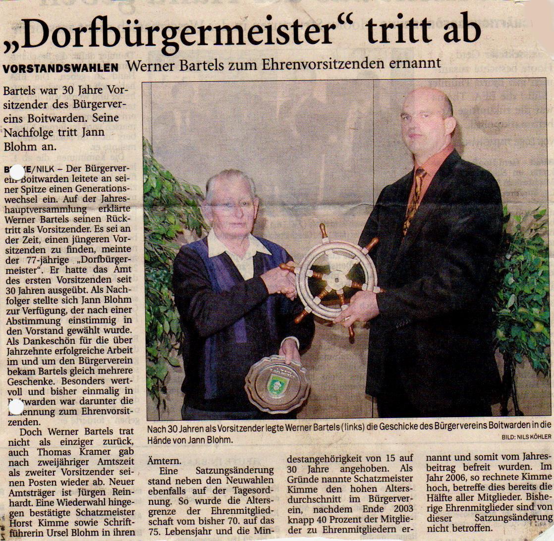 Zeitungsartikel 2004