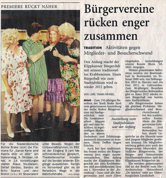 Zeitungsartikel 2008