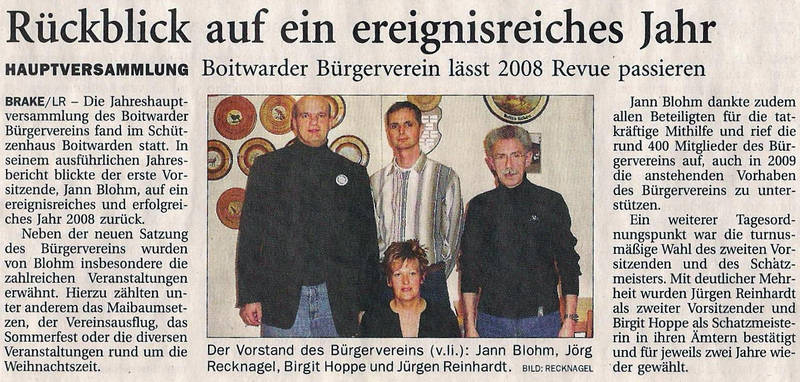 Zeitungsartikel 2009