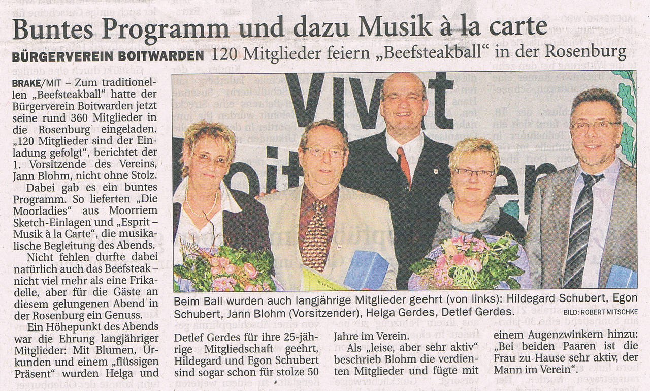 Zeitungsartikel 2011