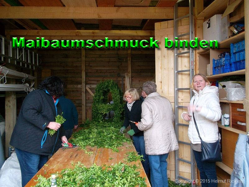 Maibaumschmuck binden 2015
