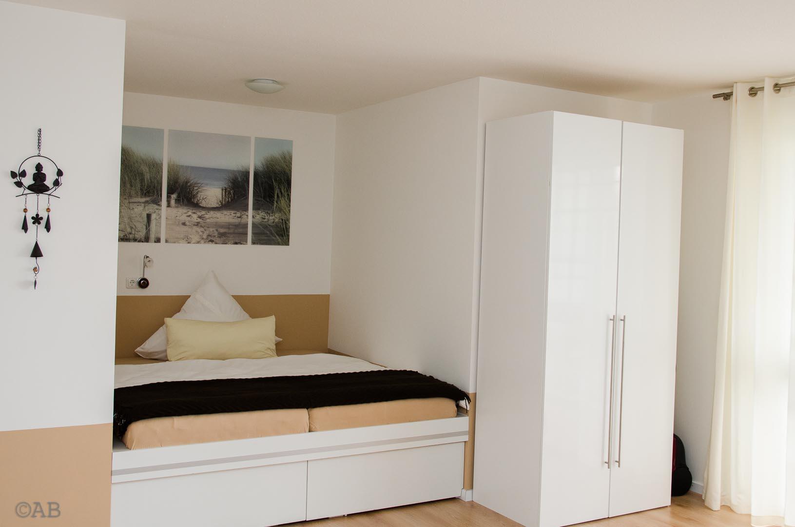 exclusives möbliertes Appartement in Königsbrunn bei Augsburg; Schlafzimmer