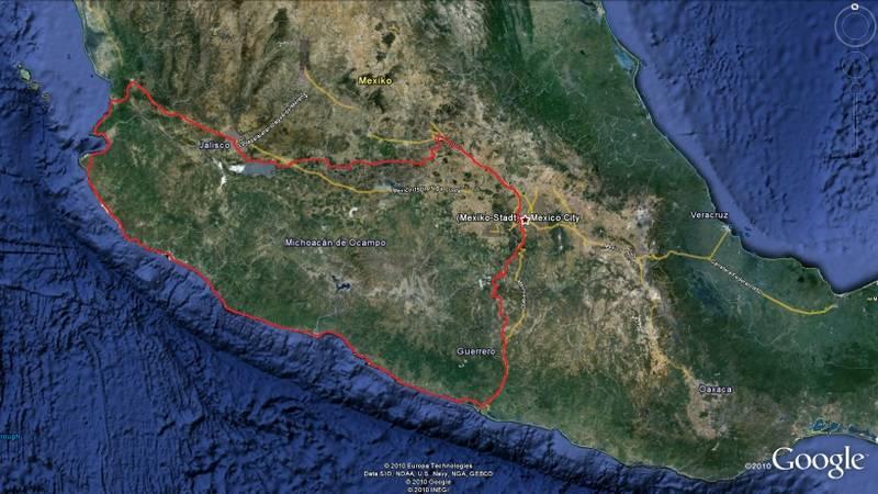 Bild unsere Reiseroute 2007