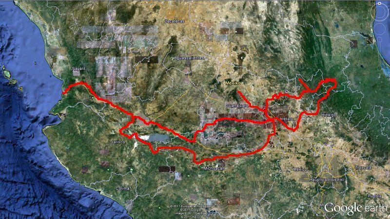 Bild unsere Reiseroute 2012