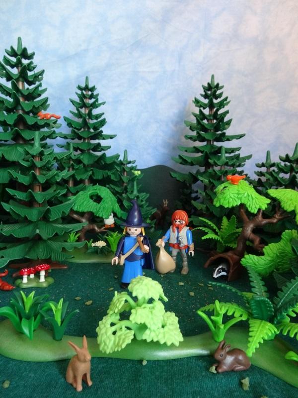 Foto: Baldemar und sein Diener reisen durch den Wald