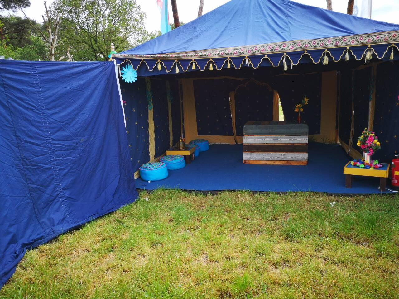 Zelt für ein Festival