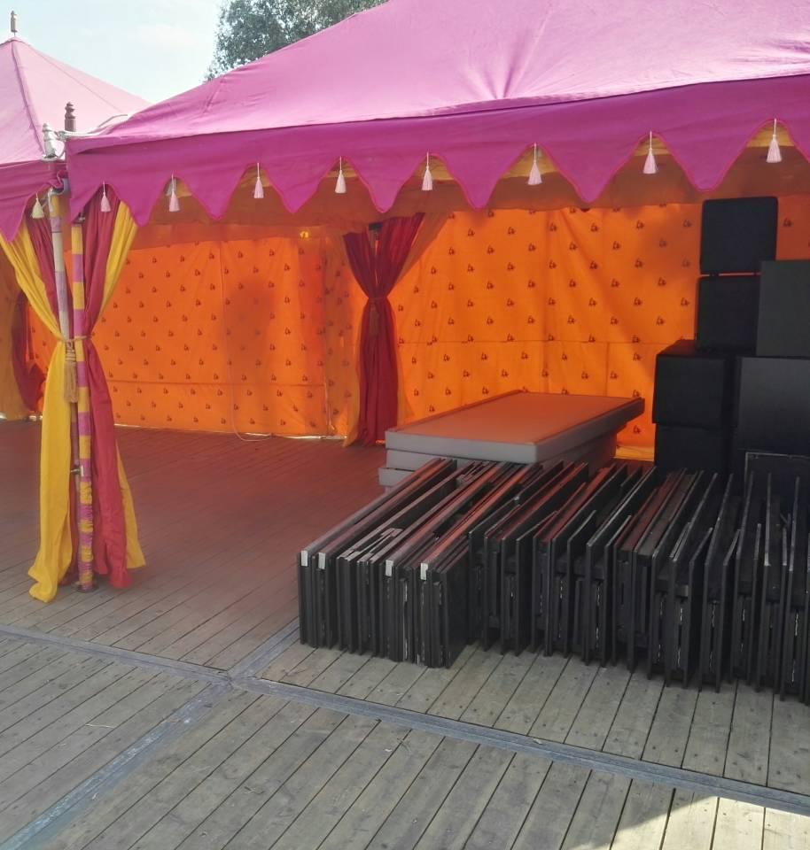Orientalische Zelte fur ein Festival