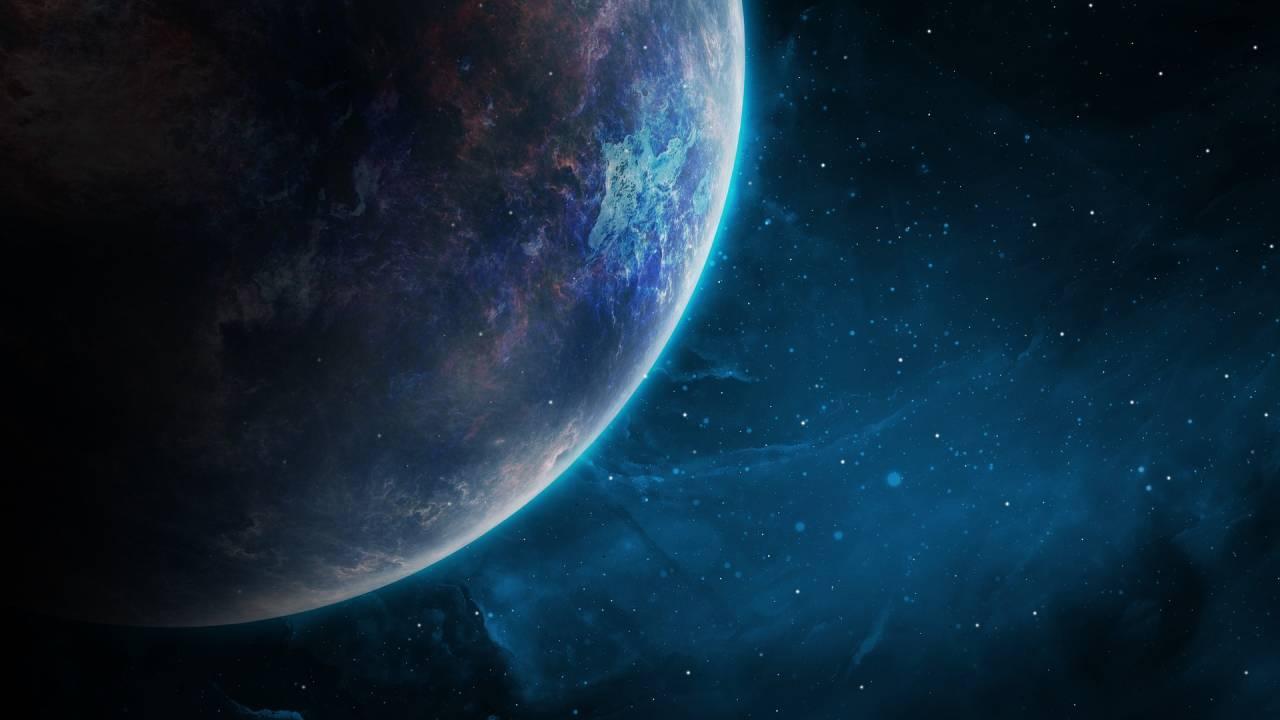 Künstlerische Darstellung eines Exoplaneten.