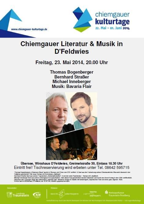 Chiemgauer Kulturtage - Chiemgauer Literatur und Musik in D´Feldwies