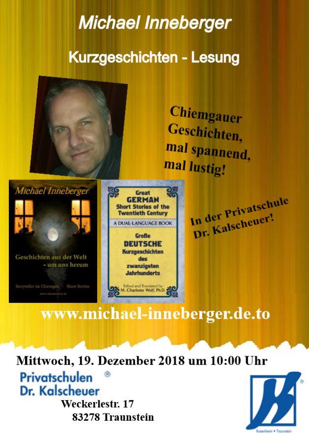 Lesung Michael Inneberger Privatschule Kalscheuer