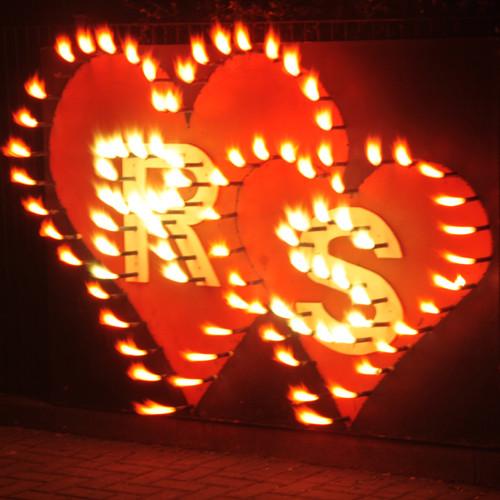 Lichterbilder Zwei Herzen