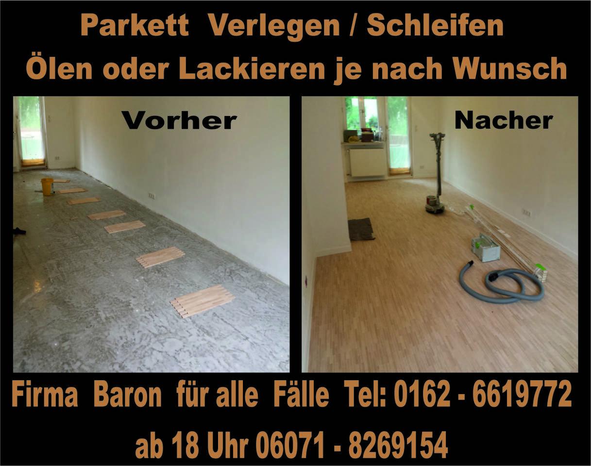 Der Bodenleger Firma  Baron  für  alle  Fälle    Firma  Baron  für  alle  Fälle     Raumausstatter - Fußbodenleger -  Renovierungen -Dielenboden Parkettleger - Verlegung - Restaurierung und Sanierung, Aufbereitung / Aufarbeitung verschlissener Stellen.