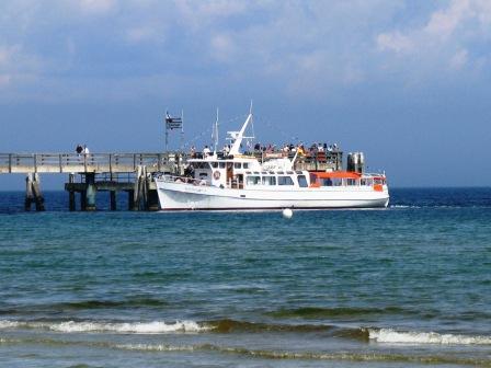 Anleger am Strand in Boltenhagen an der Ostsee