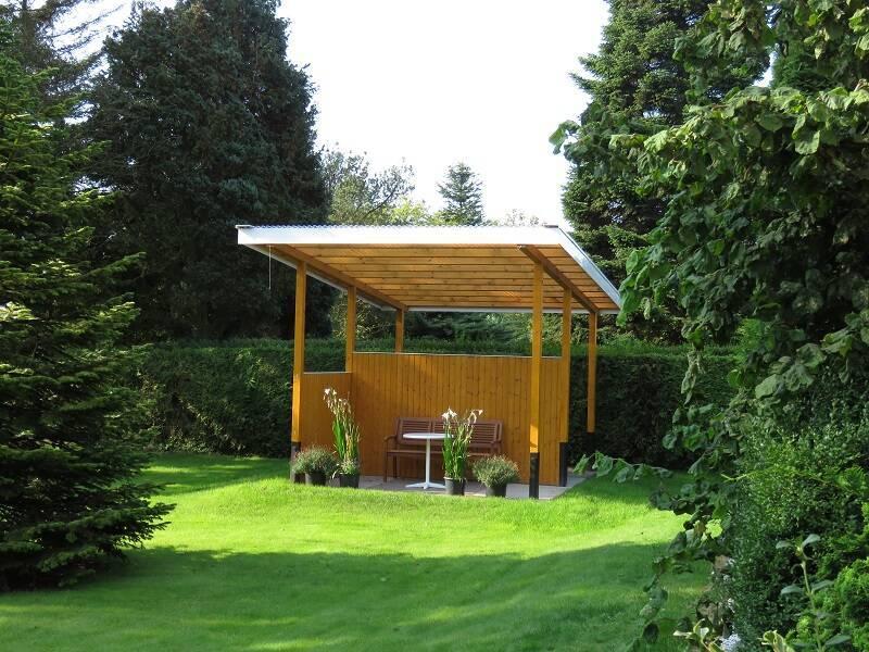 Gartenterrasse Ferienwohnung Kutscherhuus