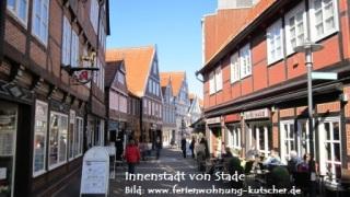 Die Innenstadt von Stade läd ein zum spazieren und einkaufen.