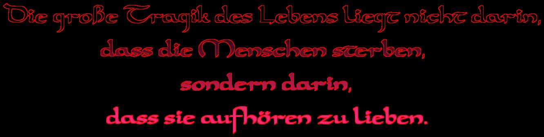"""Schriftzug: """"Die große Tragik des Lebens"""" - Schwarz/Pink"""