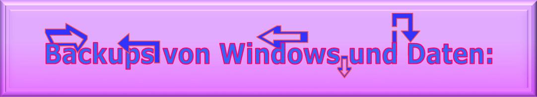 Backups von Windows und Daten