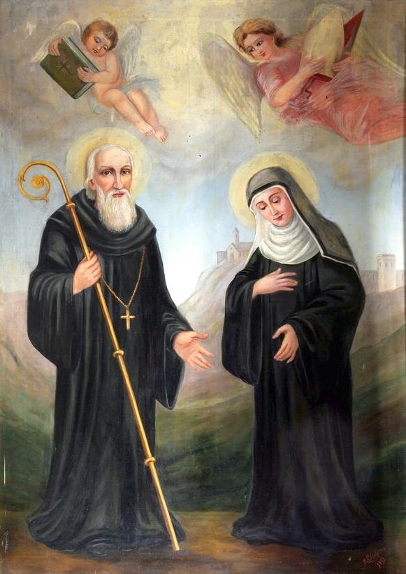 Benedikt von Nursia und seine Schwester Scholastika