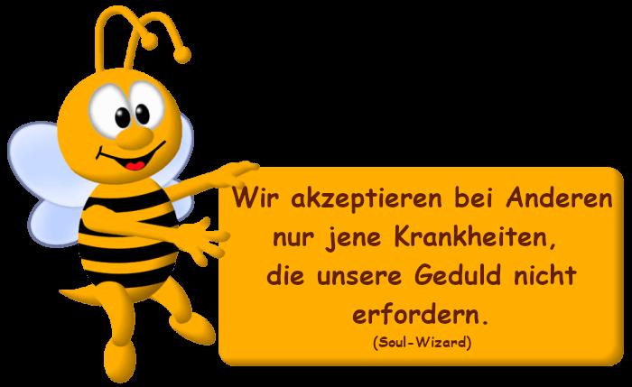 Biene mit Spruchkarte