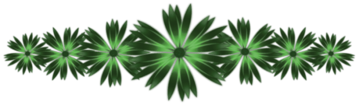 Trennlinie Blumen grau grün